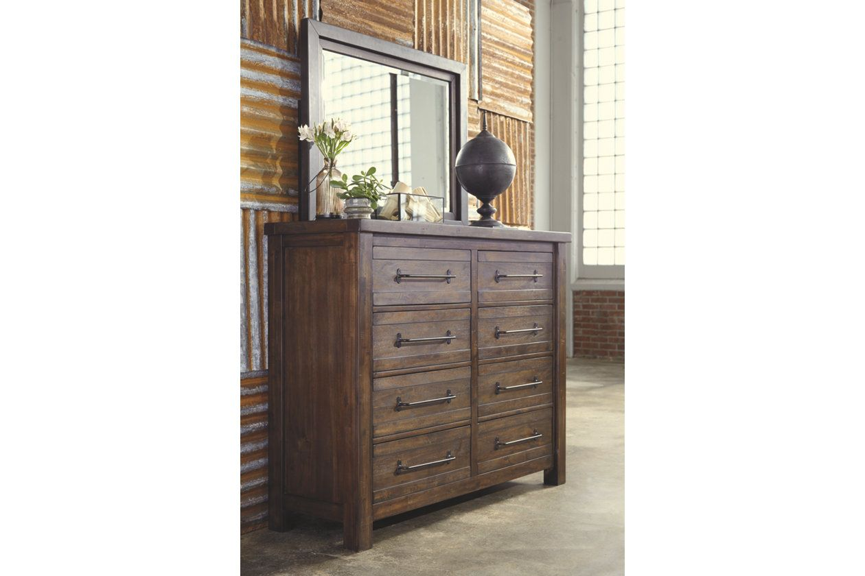 Starmore Dresser And Mirror Brown Products Dresser Wood Dresser Natural Wood Dresser