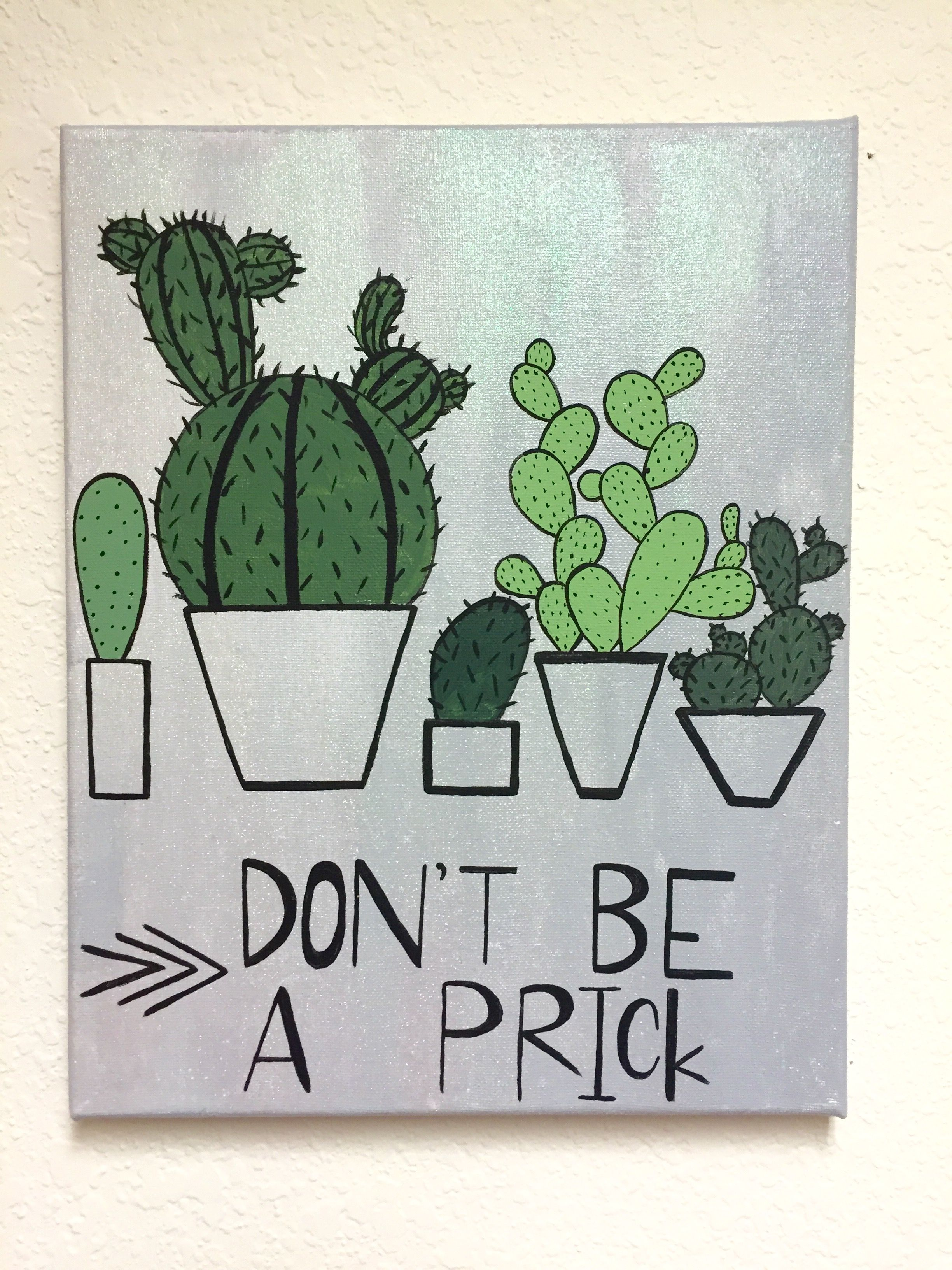 Cactus diy canvas