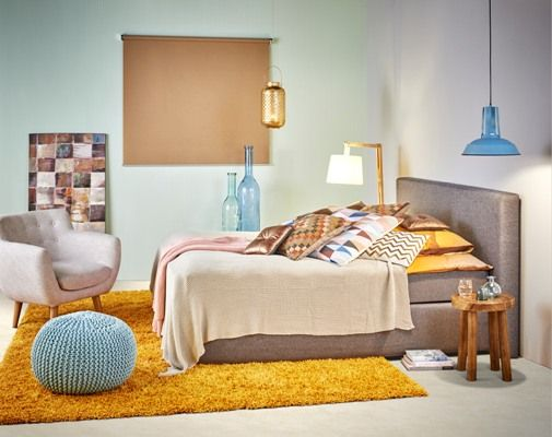 Natuurlijke, warme kleuren maken je slaapkamer sfeervol ...