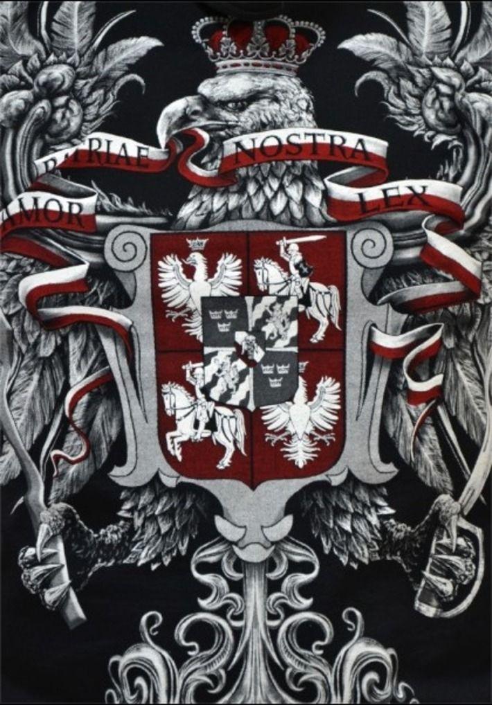 Sweat-shirt bluza patriotique Aigle Pologne Polska Węgry Hongrie WALCZACA nsz Orzeł