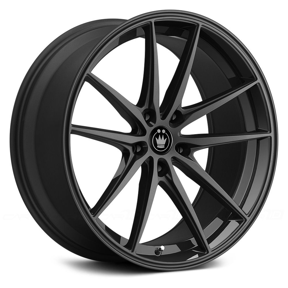 Konig oversteer gloss black 18x8 45 offset 114 3x5 bolt 156 each through