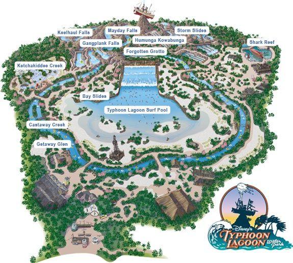 Typhoon Lagoon Map (Walt Disney World) | ºoº Disney ºoº ...