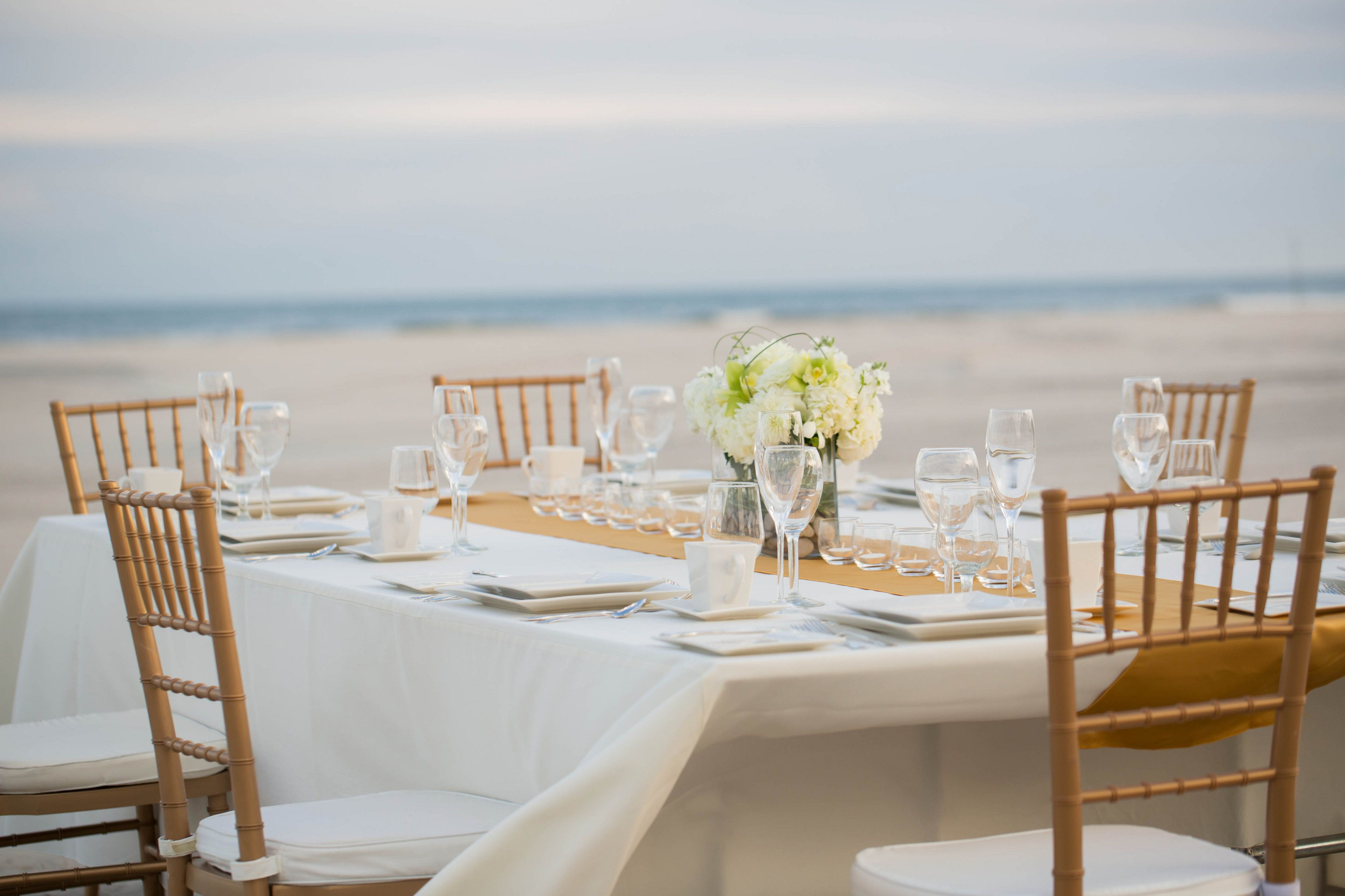 Beautiful Tablescape On Our Private Beach