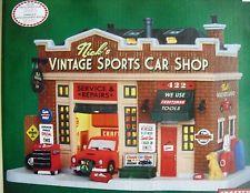 Lemax Christmas Village Nick's Vintage Sports Car Shop NIB SEARS ...