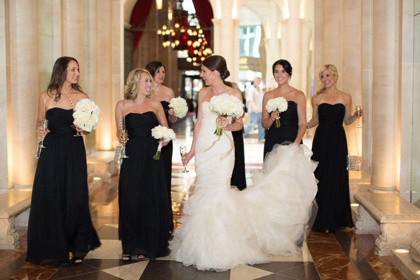 bridal party entrance | bridesmaids dress ideas | wedding dress