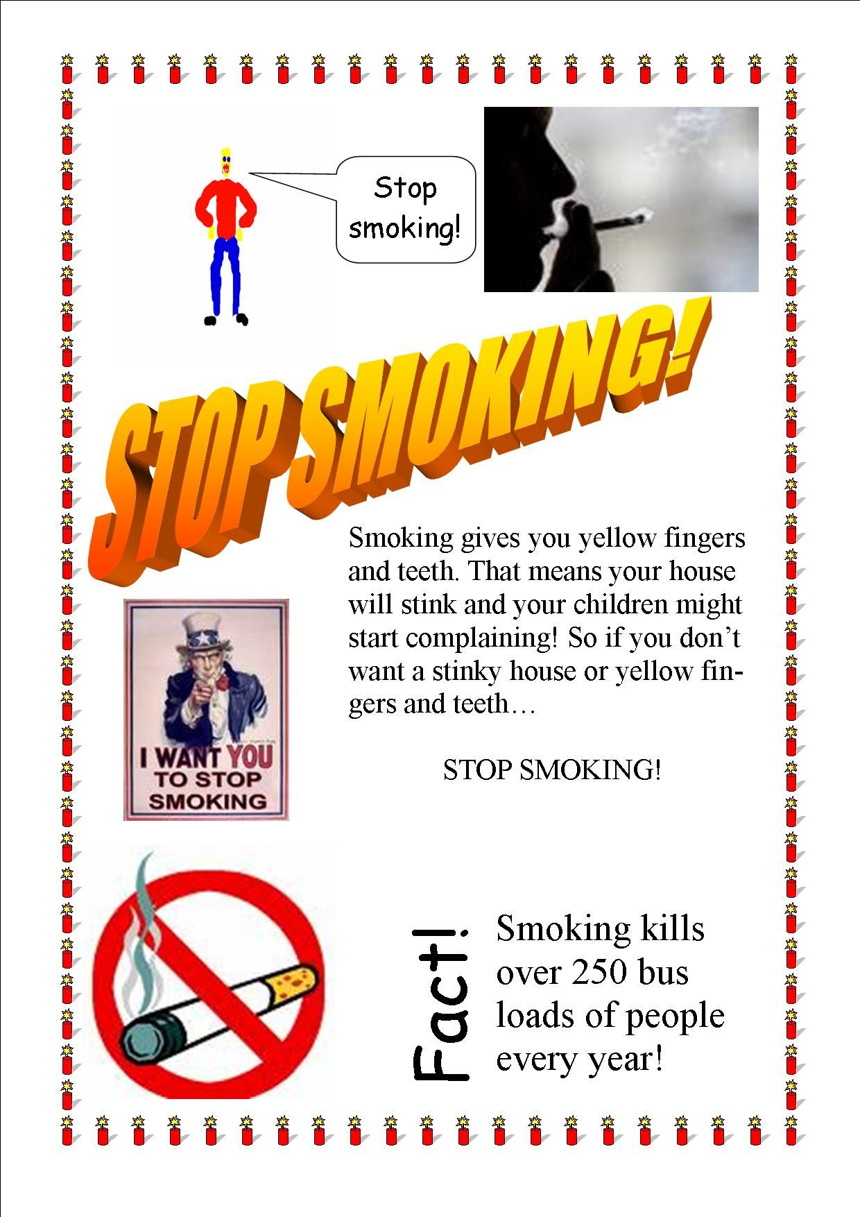 Stop Smoking Today! | Proposal to Cig Smokers