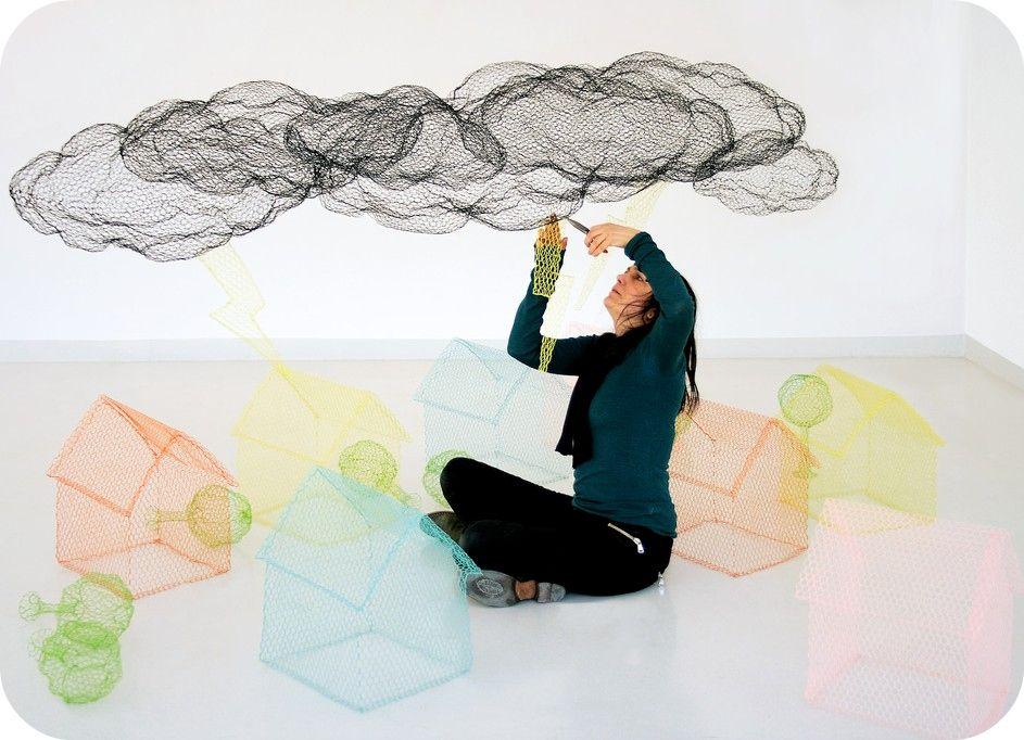 pilli pilli: chicken wire poetry | Exhibition | Pinterest | Chicken ...