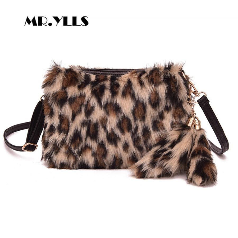 8a40ff511049 Fashion Plush Bags For Women Messenger Bag Luxury Leopard Print ...
