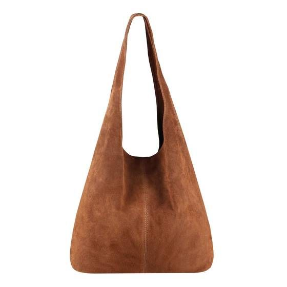 Photo of MADE IN ITALY WOMEN'S LEATHER BAG Handbag suede tote shoulder