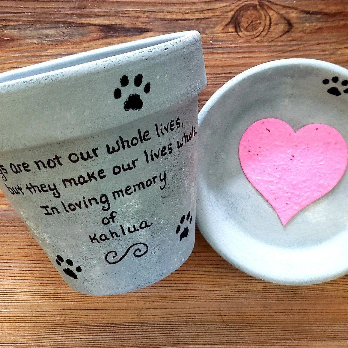 Happymoosegardenart shared a new photo on etsy pet loss