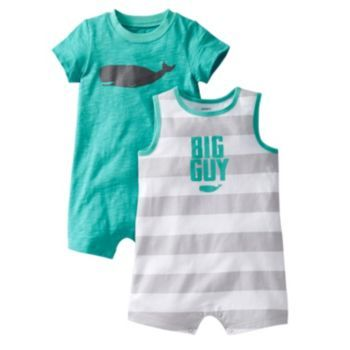 """Kohls Baby Boy Clothes Carter's """"big Guy"""" Whale 2Pkrompers  Kohl's  Baby Max Wish List"""
