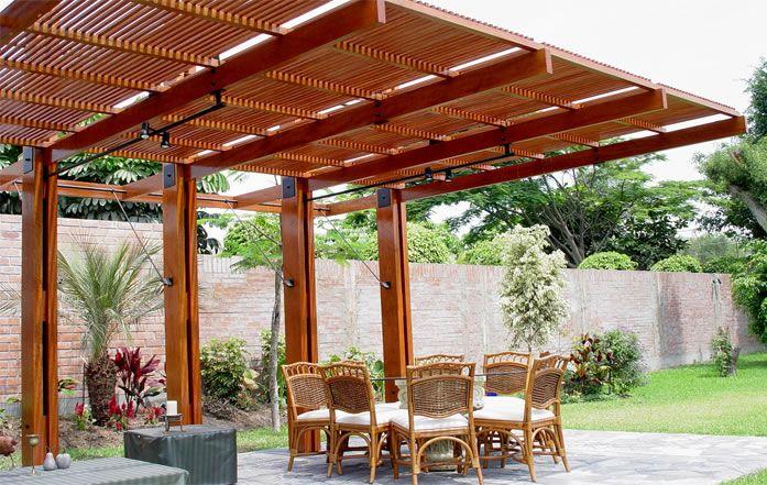 Techos de madera buscar con google techos pinterest for Techo para terraza exterior