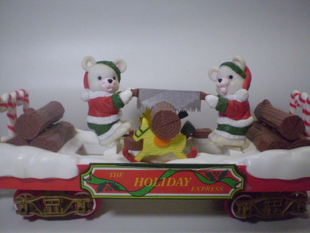 New Bright Christmas Holiday Express Train Winter Logger Bears