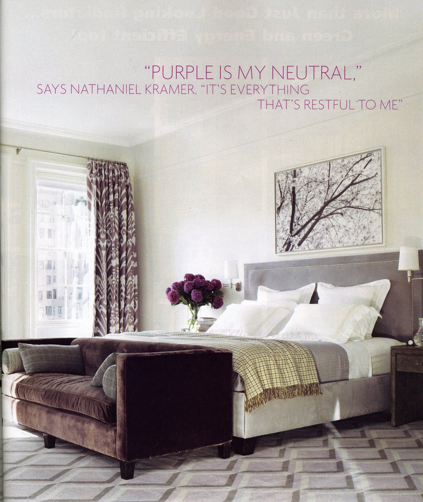"Bedroom Decor Elle elle decor | images from elle decor magazine. ""purple is my"