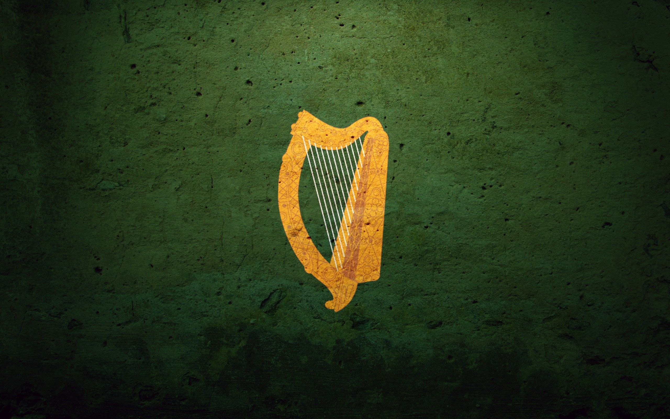 Ireland flags Coat of arms harp irish harp Wallpaper