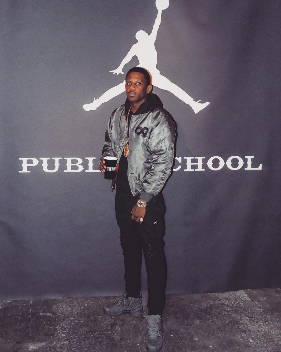 rapper wearing the air jordan 12