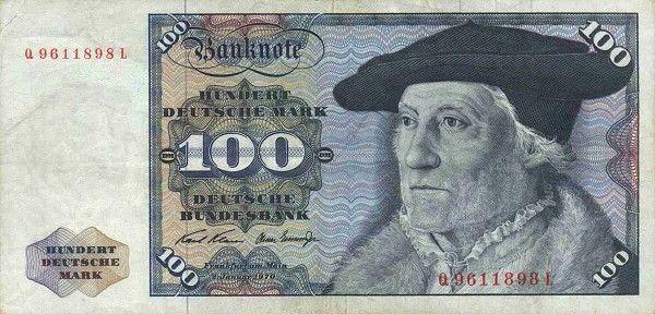 Banknote 100 Mark (Deutschland (BRD)) (19701980 Issue