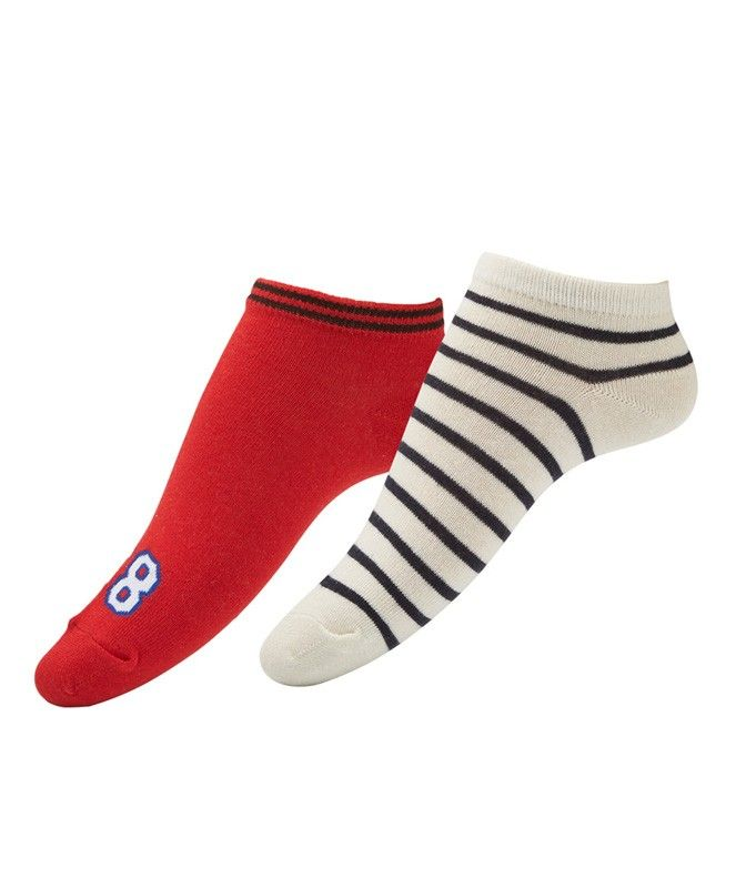 LETS GET PHYSICAL SPORTY SOCK X2 PACK-Hosiery-Accessories