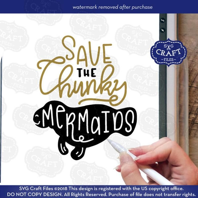 Save the chunky mermaids commercial use svg funny svg file | Etsy