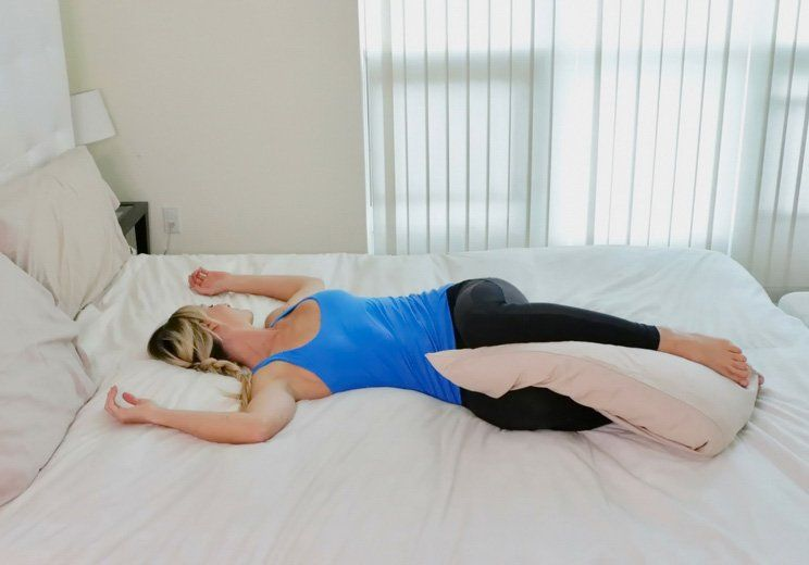 10 Sleep Promoting Yoga Poses You Can Do Right In Bed Yoga Poses For Sleep Night Time Yoga Yoga Poses
