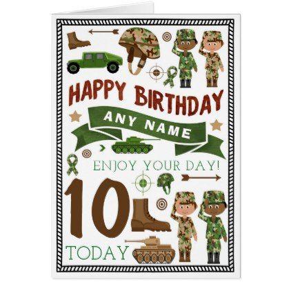 Army Soldier Personalized Birthday Card Zazzle Com Personalized Birthday Personalized Birthday Cards Birthday Cards