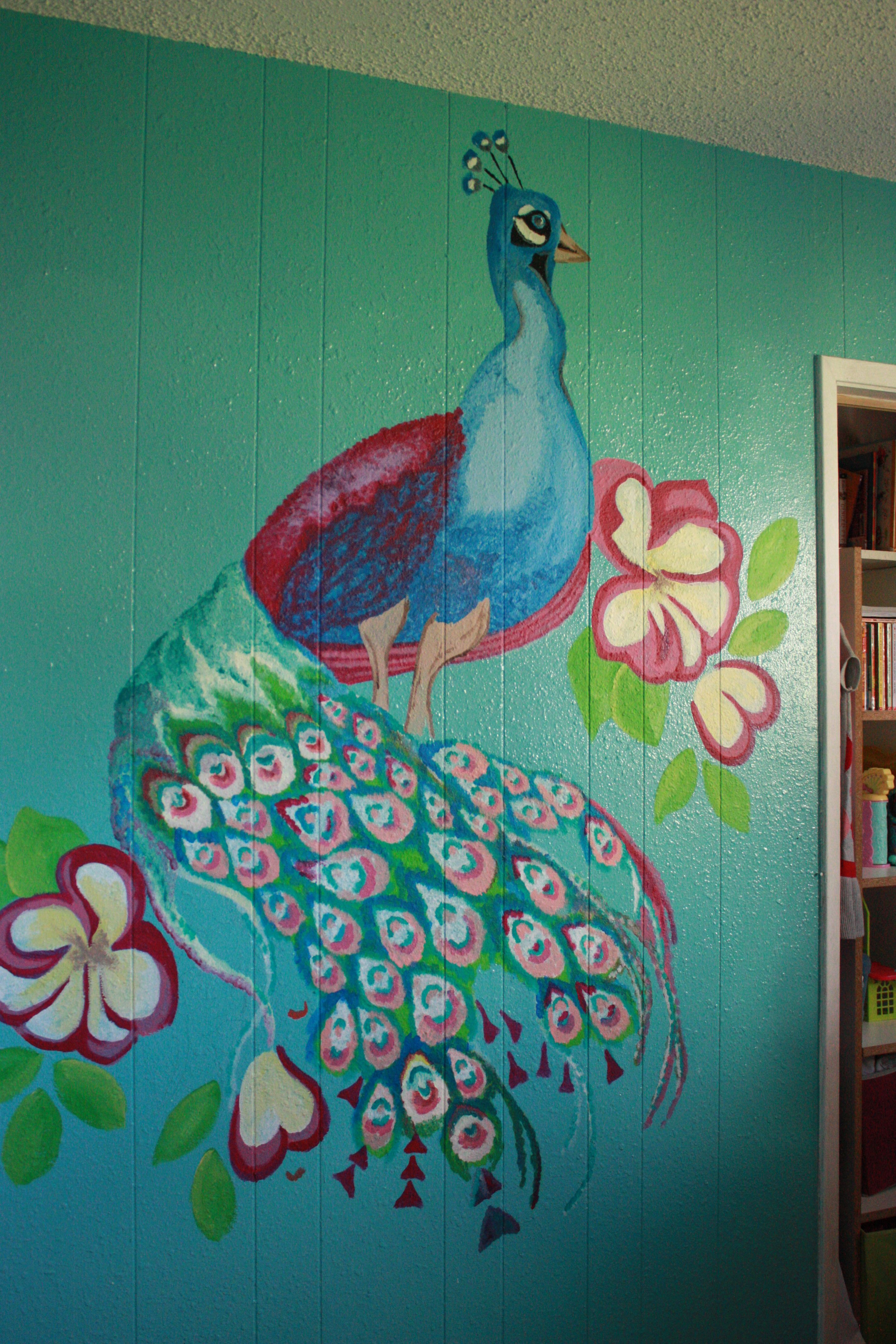 My own mural for the girls room ) Sample paint from Home