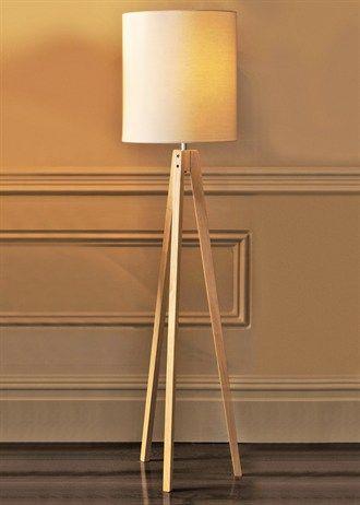 Matalan 163 60 Wood Tripod Floor Lamp H142 X W35cm
