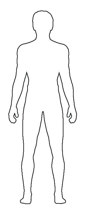 Image result for how to draw the outline of a person