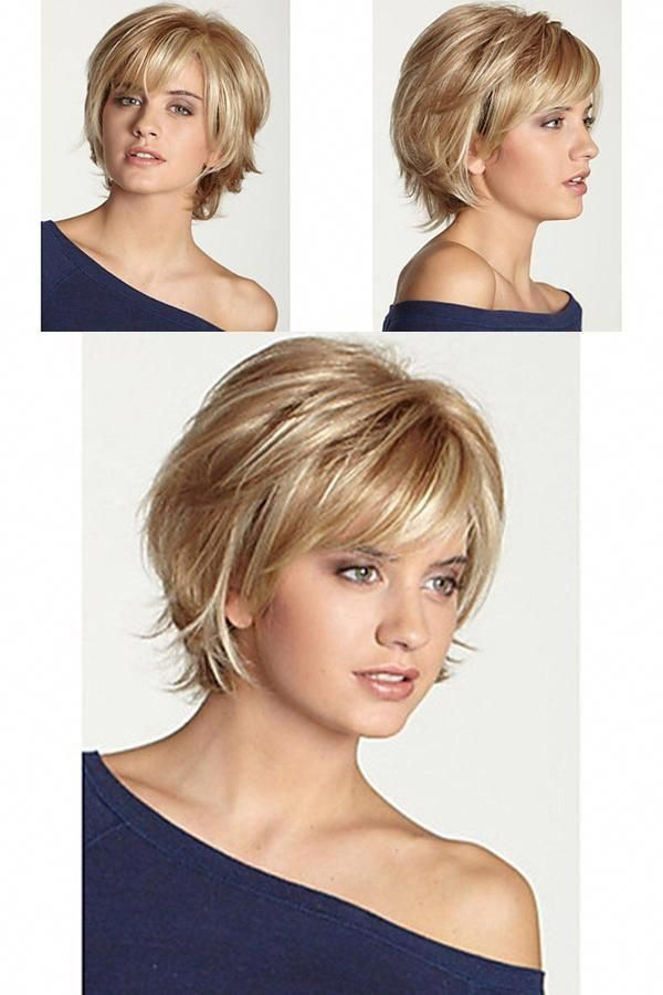 Human Hair Capless Wigs Short Wavy Bob Haircut Blonde Wig Bestdress1 Com Wavybob Choppy Bob Hairstyles Wavy Bob Haircuts Wavy Bob Hairstyles