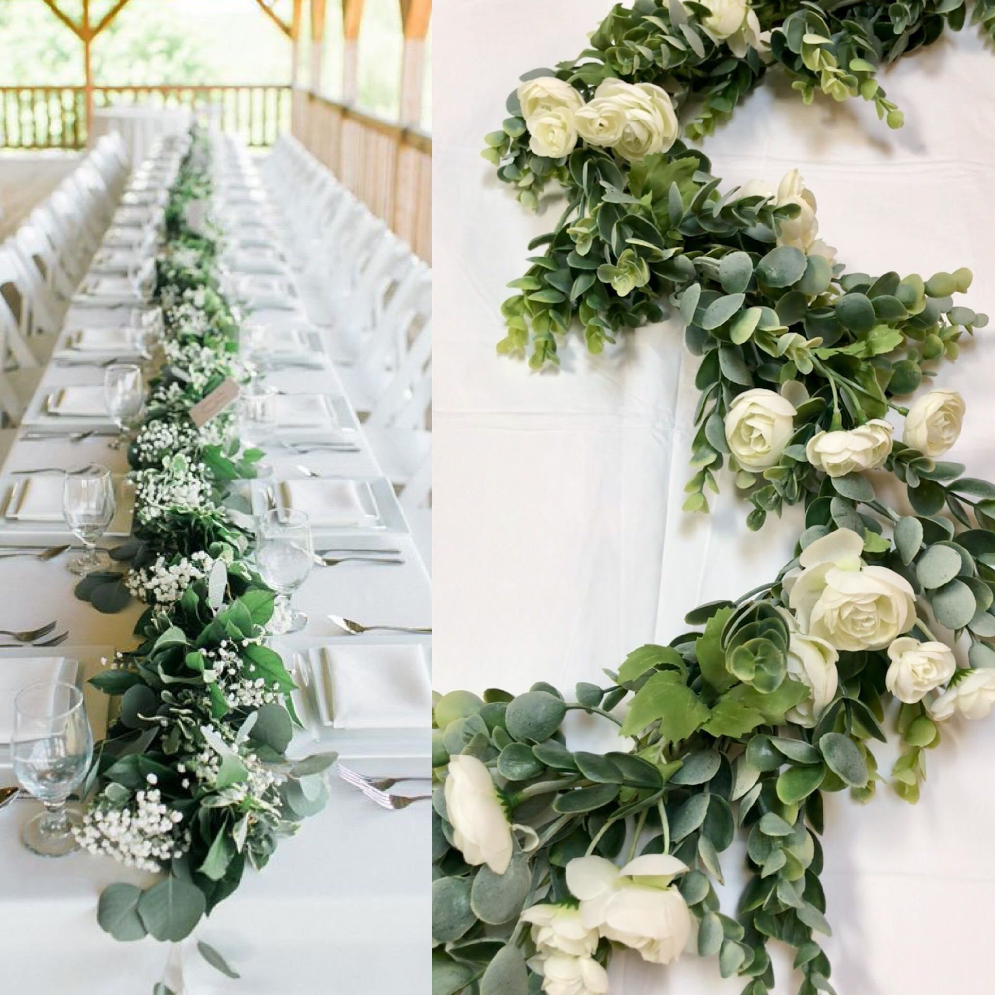 Wedding centerpieces Wedding Garland Greenery Garland Arbor Swag ...