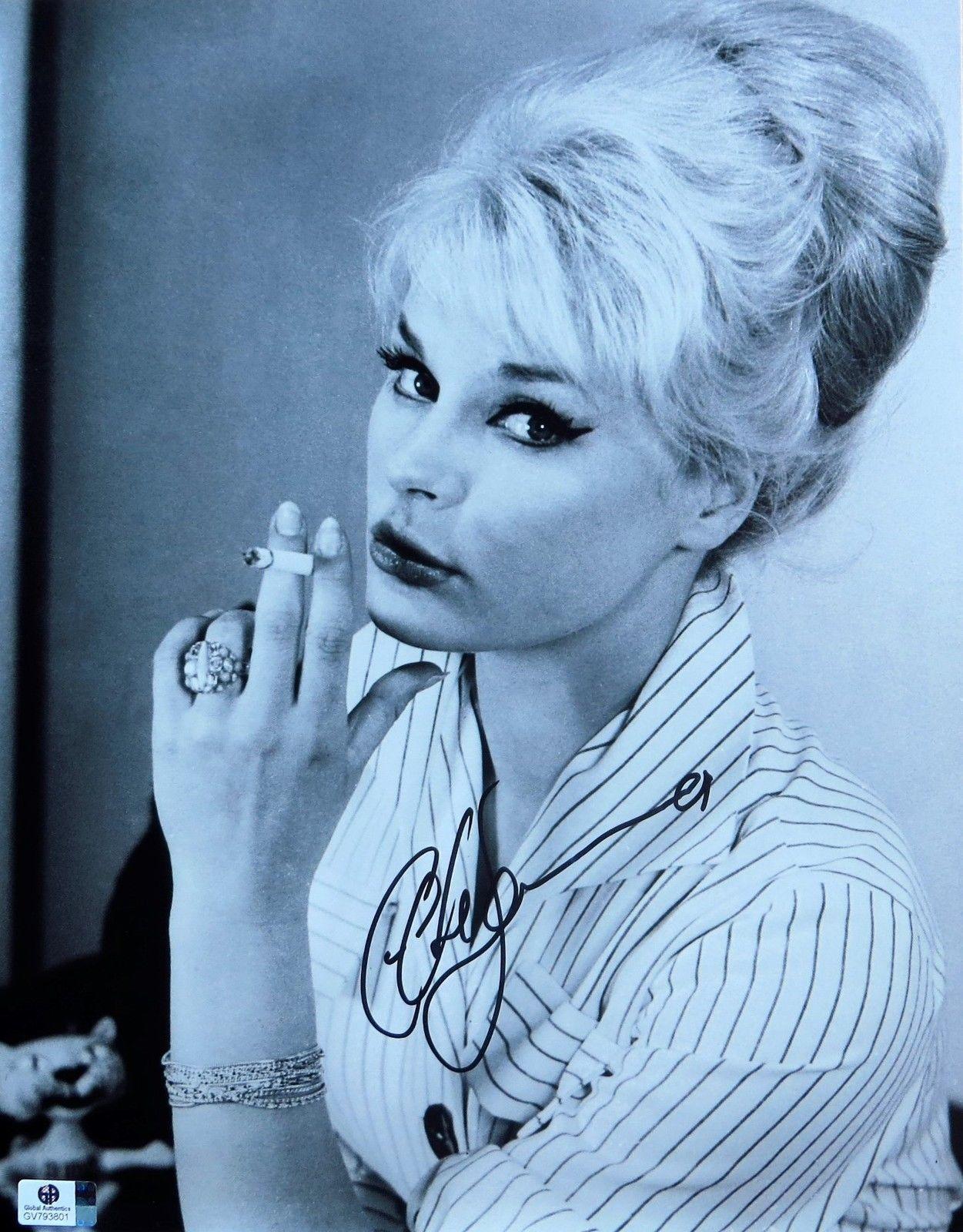 Elke Sommer Signed Autographed 11X14 Photo Vintage B/W Scene Smoking ...