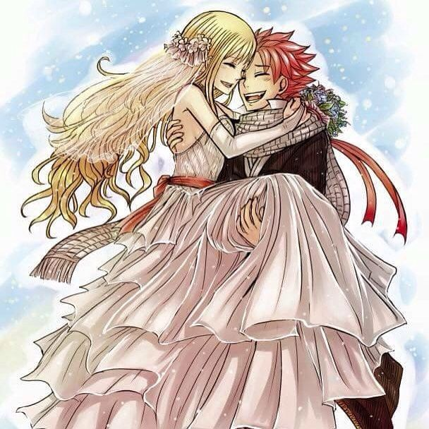 Natsu and Lucy married | Natsu and Lucy | Pinterest | Nalu and ...