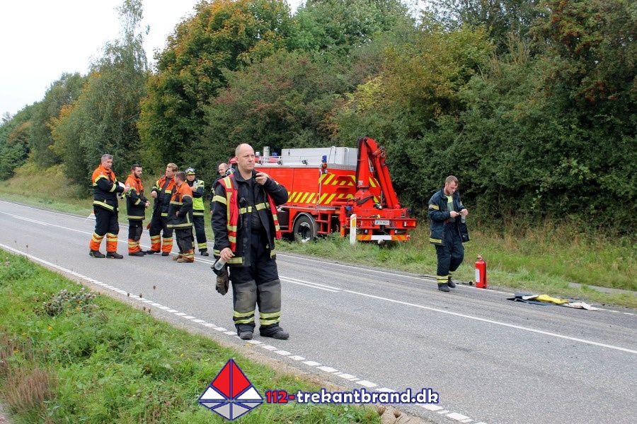 112-trekantbrand.dk - 26. Sep. 2017 - Alvorligt Færdselsuheld Med Fastklemte På Skamlingvejen I Kolding.