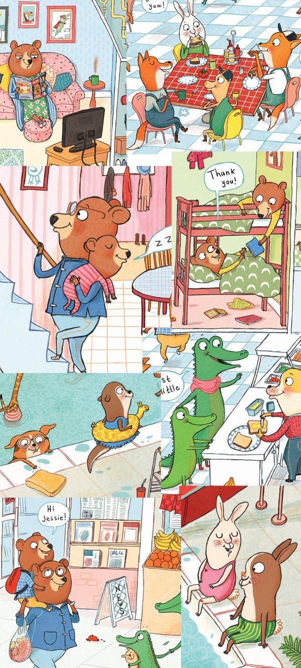 Tor Freeman Benji Bear S Busy Day Book Illustration Animal Illustration Illustration