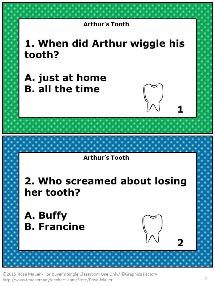 Arthur's Tooth Literacy Unit | Reading Confetti | Literacy, Reading ...
