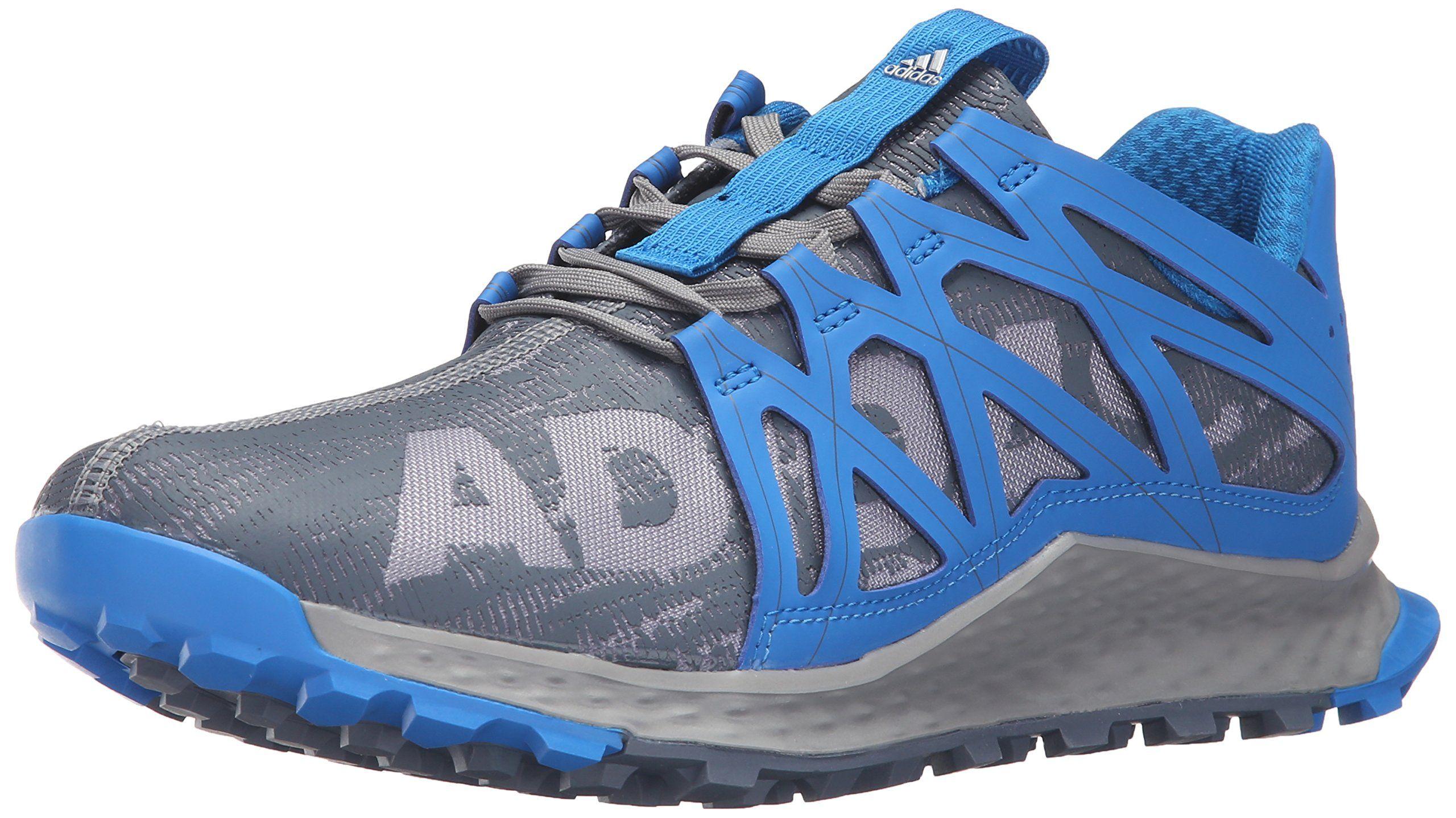 adidas Performance Men's Vigor Bounce m Trail Runner, Grey/Onix/Shock Blue,