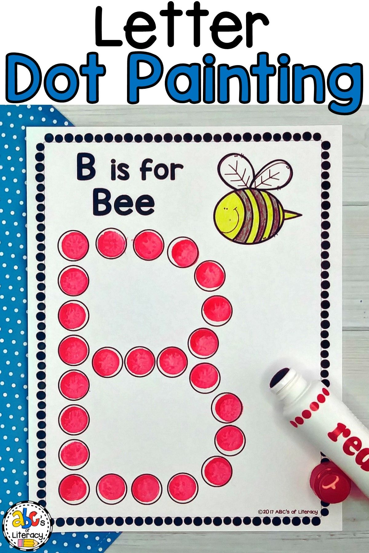Letter Dot Painting Worksheets Bingo Dauber Activity
