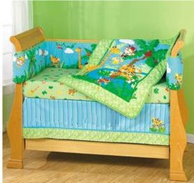 Rainforest crib bedding nursery Pinterest Tropical forest