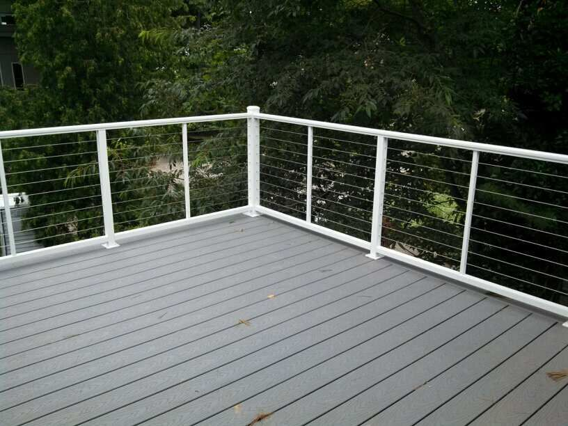 horizontal cable deck rails white at DuckDuckGo Cable