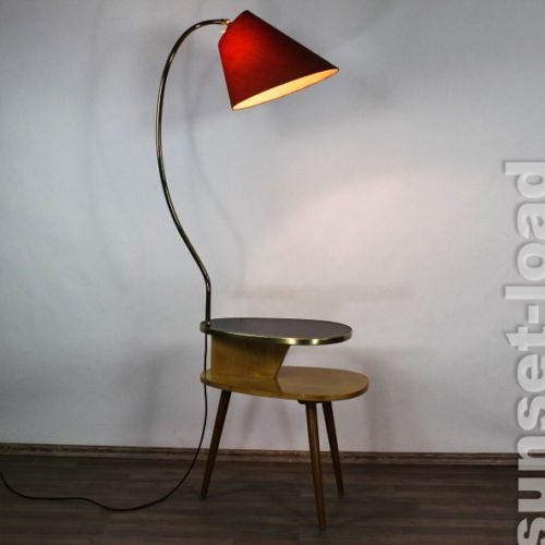 Alte Dreibein Steh Lampe Nieren Tisch Boden Leuchte Tripod Ablage Vintage 50er J 50er Jahre Mobel Lampen Und Nierentisch