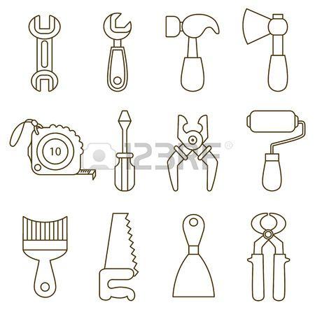Herramientas carpintero para colorear - Imagui | herramientas ...
