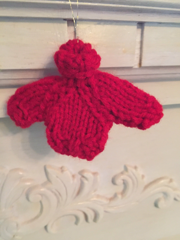 Knit pattern, Christmas ornament pattern, Mini Christmas ...
