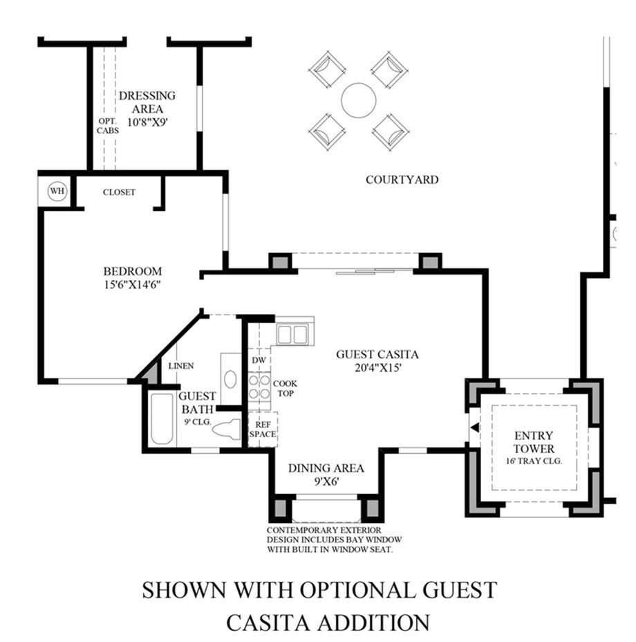Villarica Floor Plan Optional Guest Casita Floor Plans
