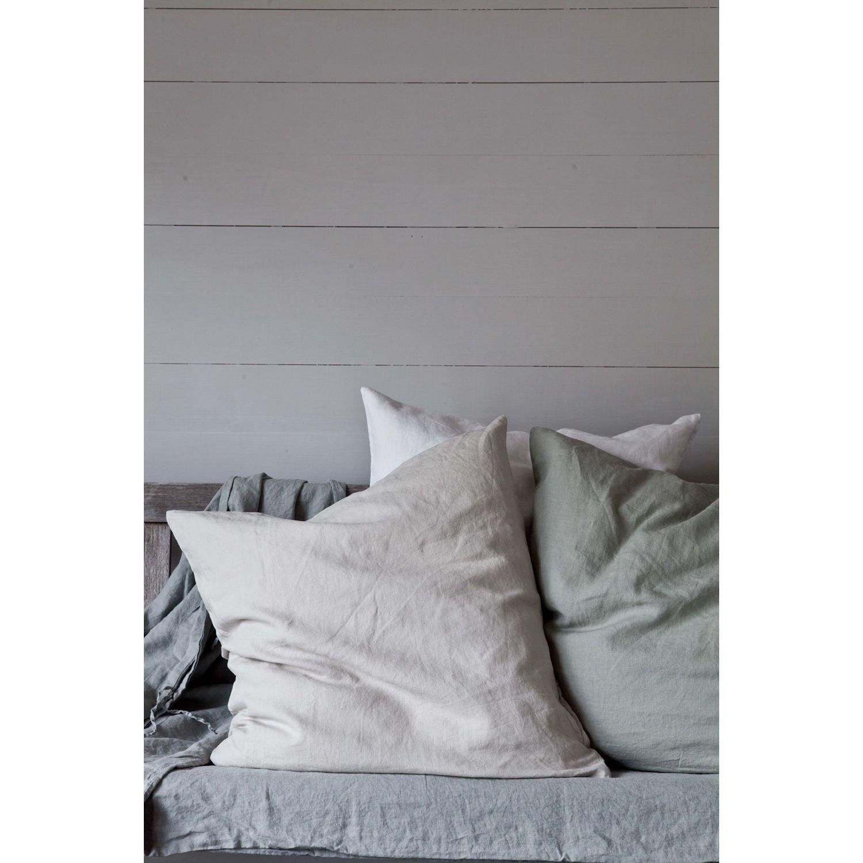 Washed Linen kuddfodral 65x65, ljusgrå 299 – Tell Me More – Köp online på Rum21.se