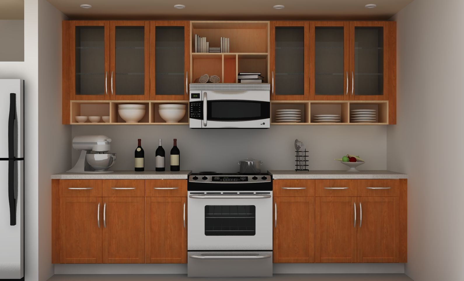 Exceptionnel Interesting Simple Kitchen Hanging Cabinet Designs Pictures Throughout Ideas