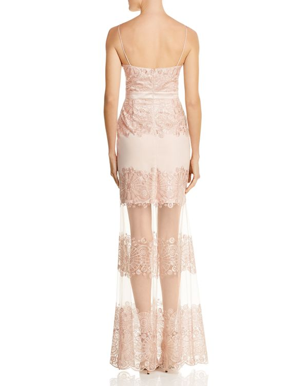 Aidan by Aidan Mattox Embellished Illusion Gown - 100% Exclusive ...