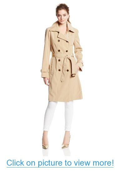 Women's double breasted belted coat