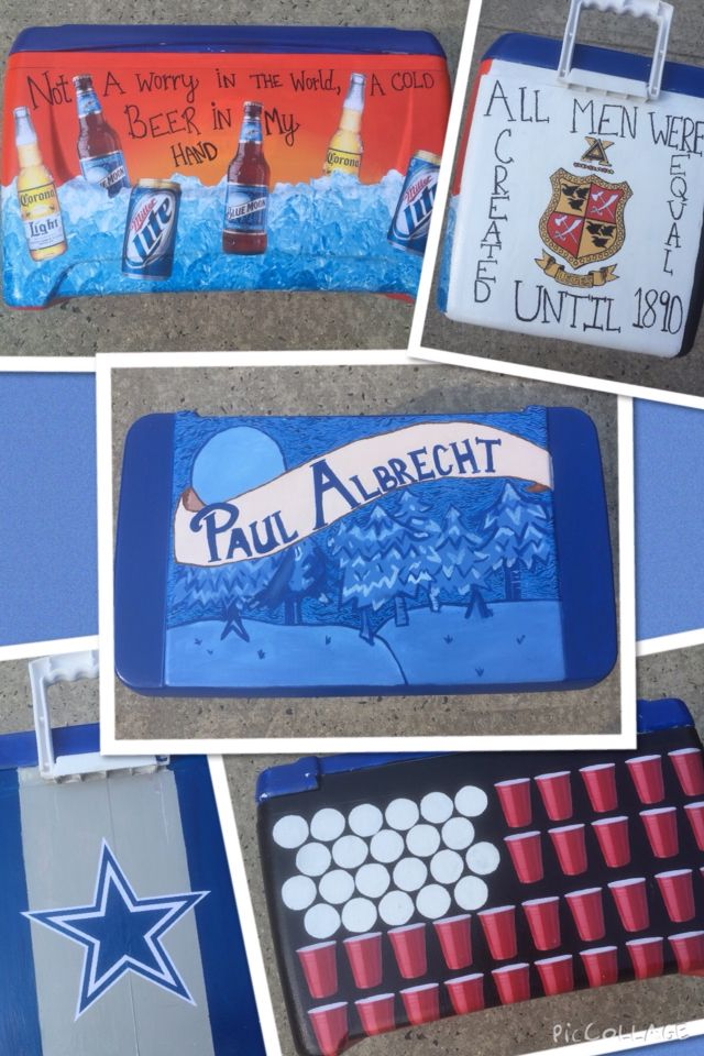 Painted Cooler Blue Moon Beer Corona Miller Lite Pong Flag Country Quotes Cowboys Delta Chi Fraternity Cooler Painting Cold Beer Beer