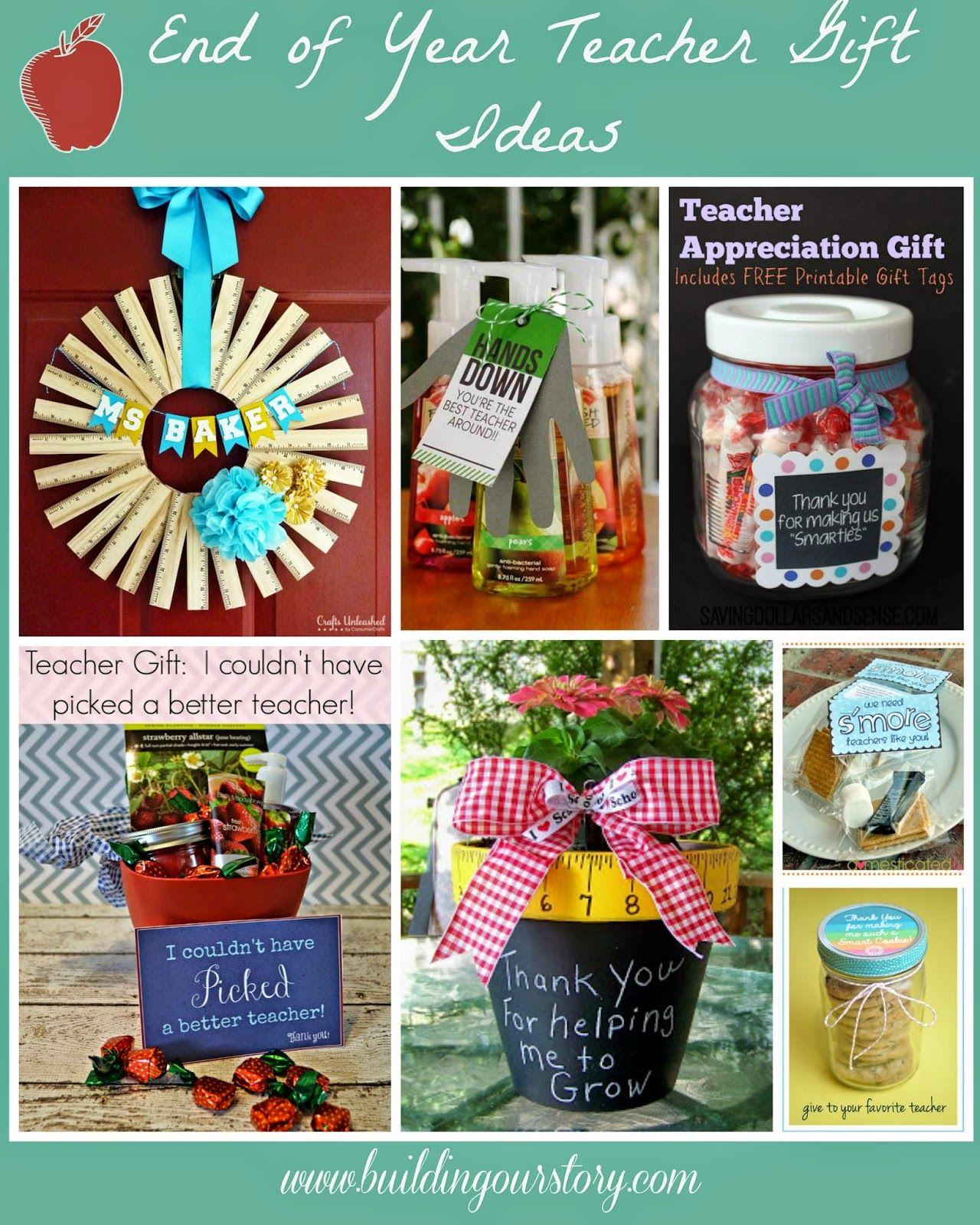 End of the year teacher gift diy ideas teacher gifts