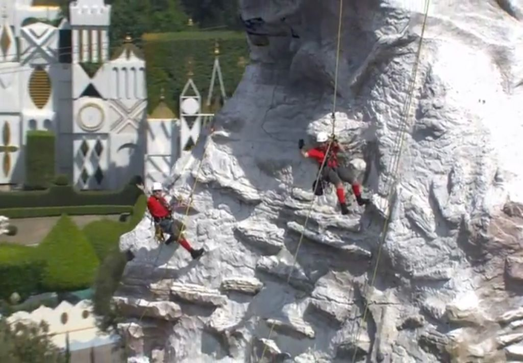 Scaling The Majestic Matterhorn At Disneyland Park Disneyland Park Disneyland Matterhorn